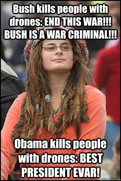Drones Bush V Obama