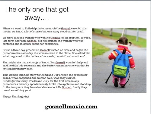 Gosnell The one that got away