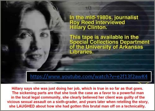 Hillary Clinton laughs about rapist