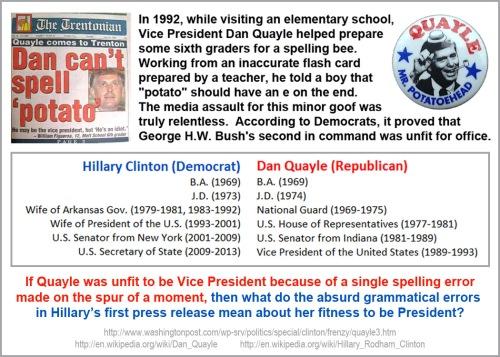 Quayle v Clinton