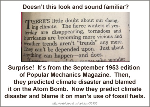 1953 Climate change disaster - atom bomb