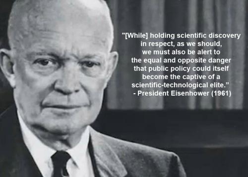 1961 Eisenhower on scientific elite