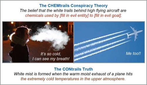 CHEMtrails vs CONtrails