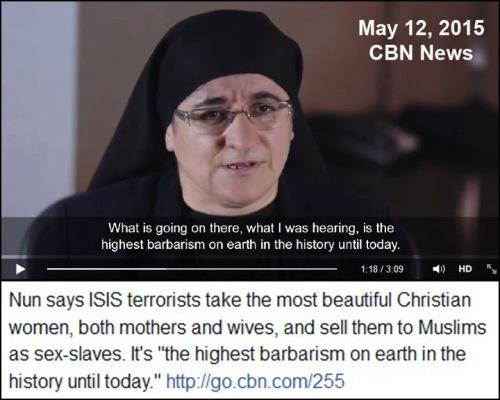 ISLAM nun reports on sex slavery