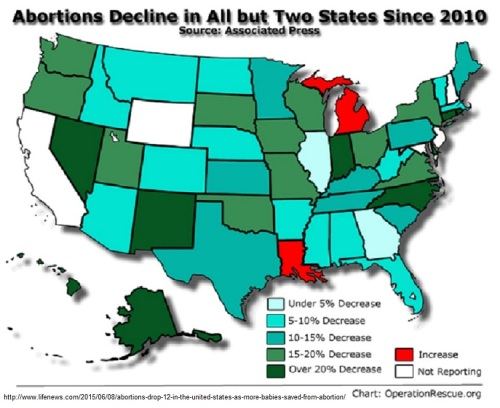2015 Abortions down in 48 states