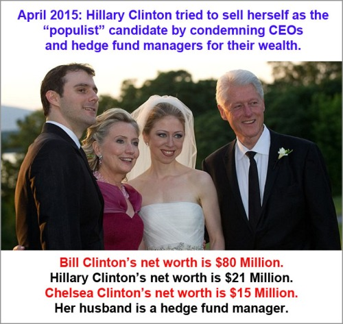 2015 Clinton wealth and hypocrisy