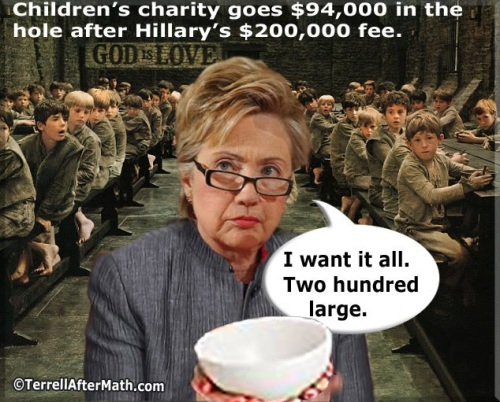 2015_06 18 Hillary costs charity a bundle by Terrell