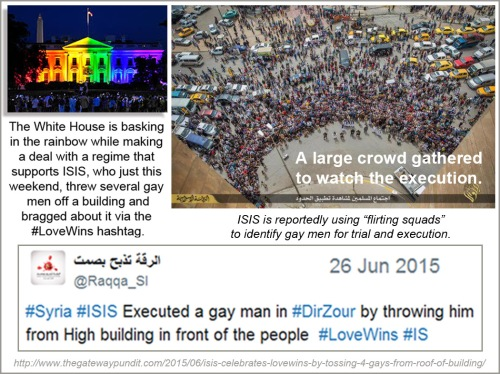 2015_06 Rainbow WH and ISIS tossing gays off bldgs