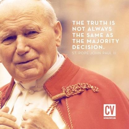 JPII Truth vs majority