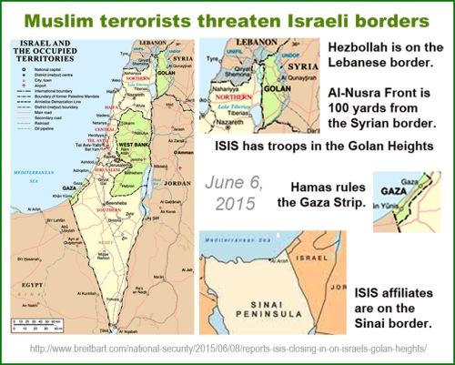 MAP Israel - modern w enemies