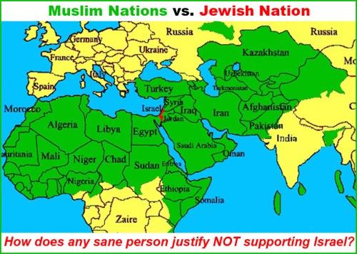 MAP Muslim vs Jewish nations