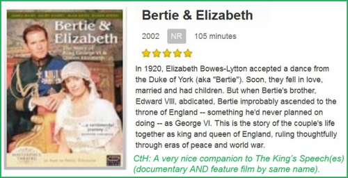 MOVIE Bertie & Elizabeth