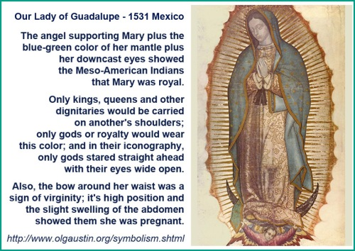 Our Lady of Guadalupe 1531 iconography