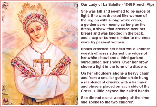 Our Lady of La Salette 1846 iconography