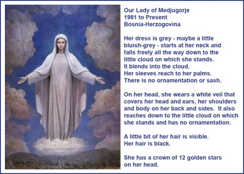 Our Lady of Medjugorje 1981 iconography