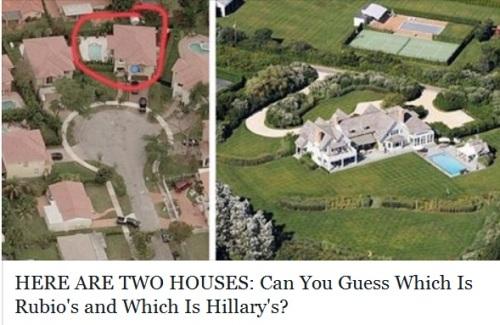 Rubio's house vs Hillary's house