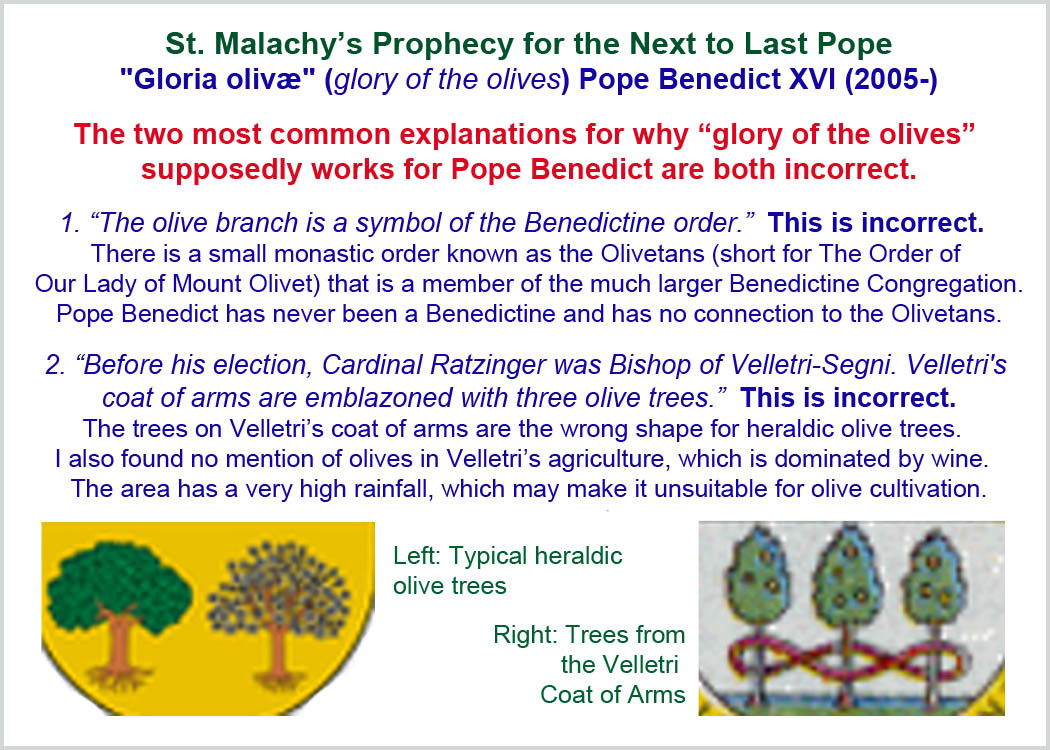 But the explanations i found for pope benedict xvi didn t hold up to
