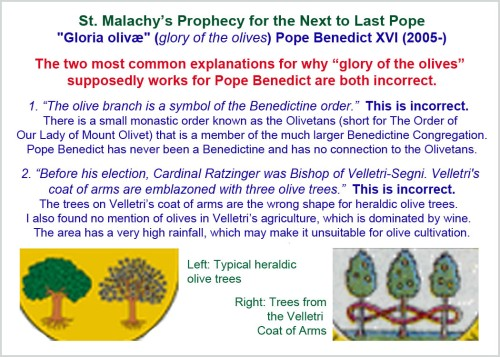 St Malachy's prophecy - Pope Benedict XVI