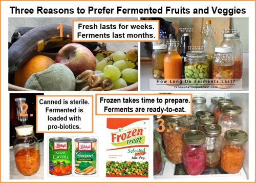 Three reasons to prefer ferments