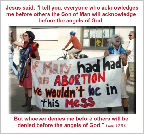 ABORTION anti-Mary sign