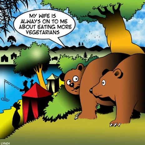 BEARS eat more vegetarians