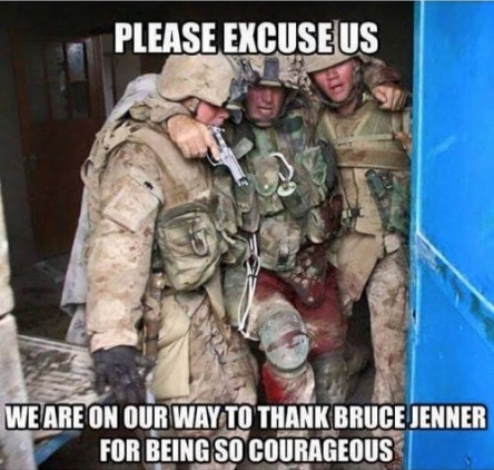 Courage thanks Bruce Jenner