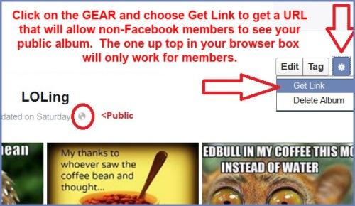 Facebook - link for non FB members