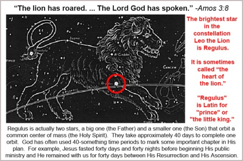 God, Leo the Lion and Regulus
