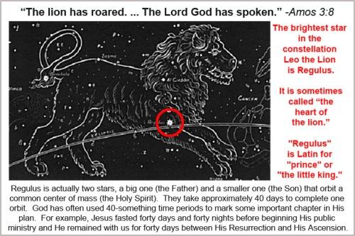 God, Leo the Lion and Regulus