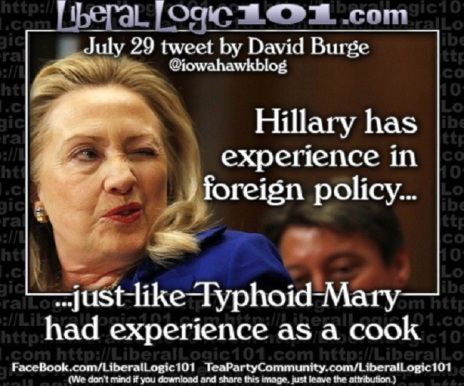 Hillary and Typhoid Mary