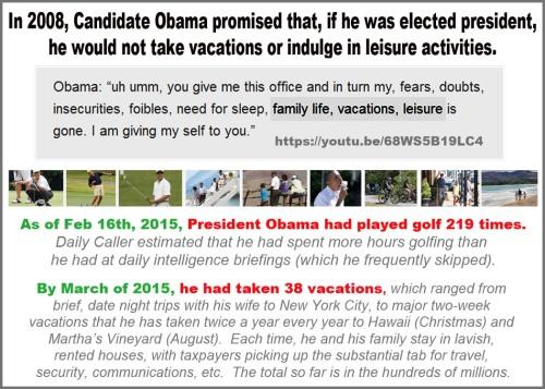 2008 vs 2015 Obama vacays