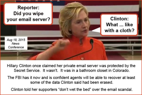 2015_08 18 Hillary Clinton did I wipe with a cloth