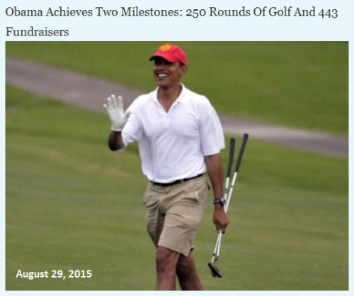 2015_08 29 Obama golf and fund raisers