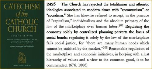 Catholic Catechism on socialism