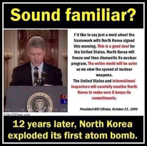 Clinton NoKo deal and bomb