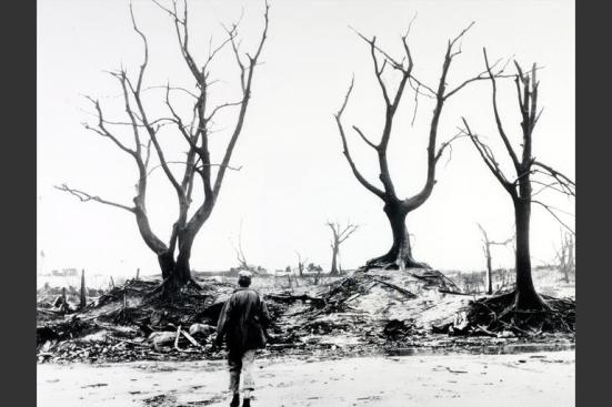 War and Conflict. World War Two. pic: September 1945. A scene of devastation after the American Atom bomb attack on Hiroshima, Japan, which was dropped on 8th August 1945. Rolls Press/Popperfoto