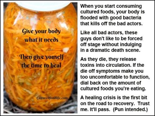 Healing crisis