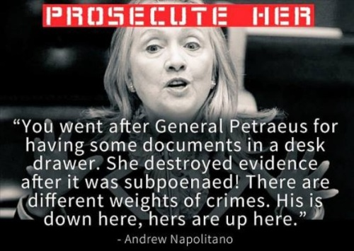 HILLARY Napolitano says prosecute her