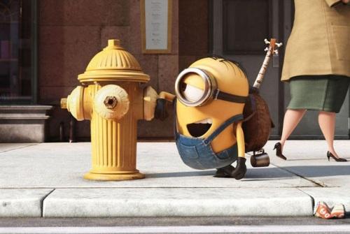 Minion chats with fireplug