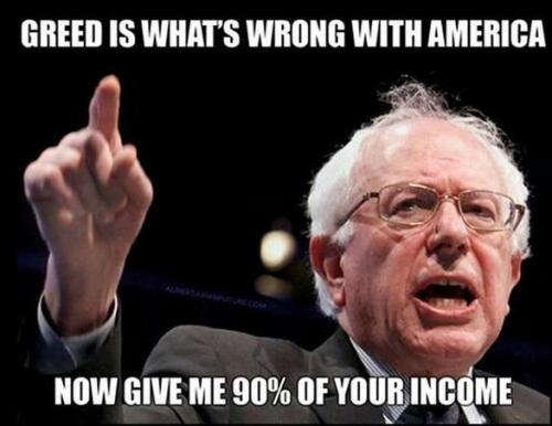 Sanders greed