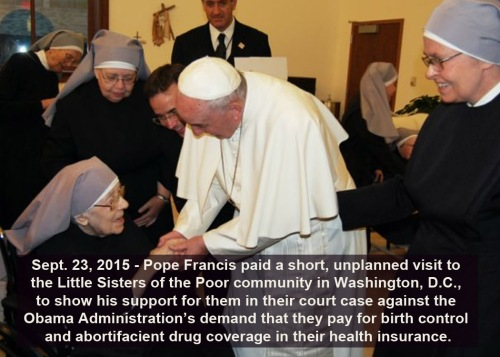 2015_09 23 Pope Francis visits Little Sisters of the Poor