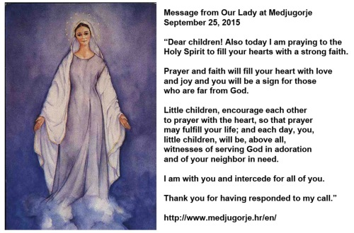 2015_09 25 Our Lady's message