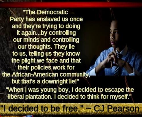 CJ Pearson Dem party slavery