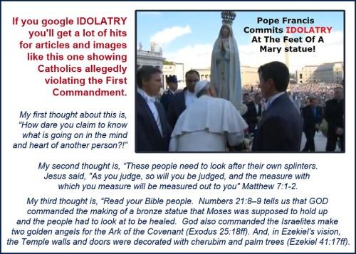 Idolatry - Pope Francis and Mary