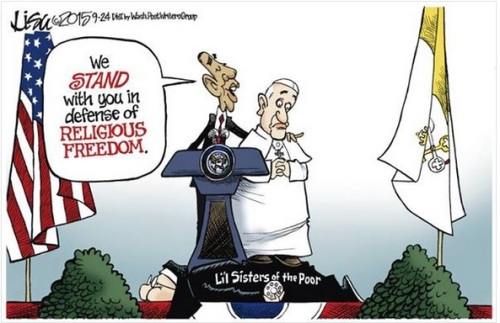 Obama and Pope - Little Sisters of the Poor