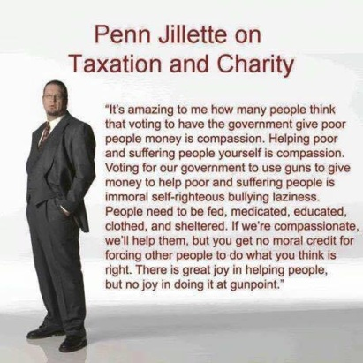 Penn Jillette on taxation and charity