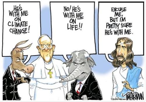 Pope - Dem GOP Jesus