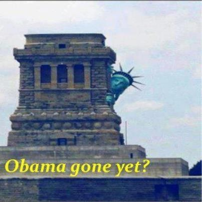 Statue of Liberty - Obama gone yet