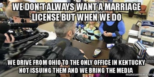 Targeting KY clerk