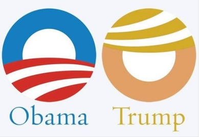 TRUMP and Obama logo PN